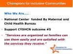 champions for inclusive communities