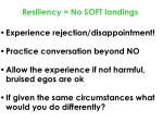 resiliency no soft landings