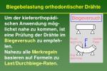 biegebelastung orthodontischer dr hte