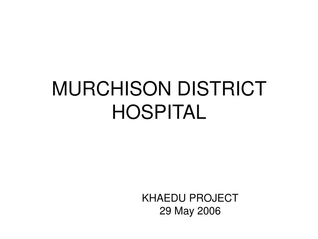 murchison district hospital l.