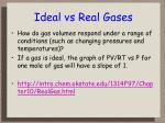 ideal vs real gases