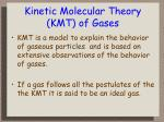kinetic molecular theory kmt of gases