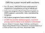 cms has a poor record with auctions