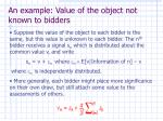 an example value of the object not known to bidders