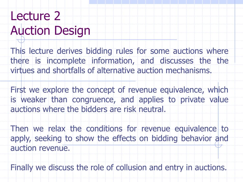lecture 2 auction design l.