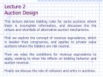 lecture 2 auction design