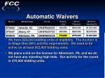 automatic waivers28