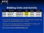 bidding units and activity11