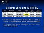 bidding units and eligibility17
