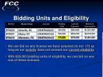 bidding units and eligibility18