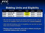 bidding units and eligibility20