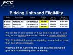 bidding units and eligibility21