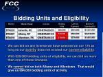 bidding units and eligibility22