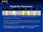 eligibility reduction34