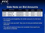 side note on bid amounts37