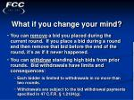 what if you change your mind