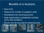 benefits of e auctions