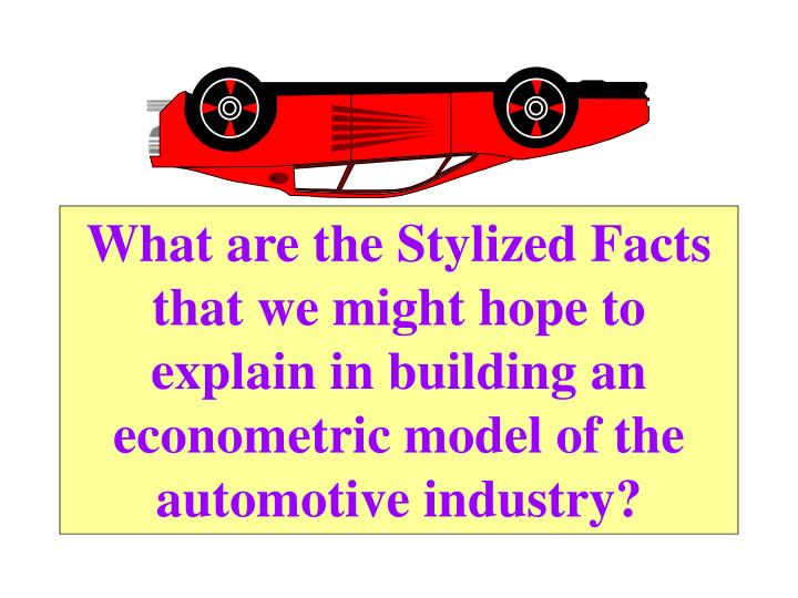 What are the Stylized Facts that we might hope to explain in building an econometric model of the au...