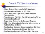 current fcc spectrum issues