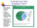 is wireless the third broadband pipe