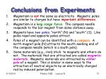 conclusions from experiments