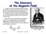 the discovery of the magnetic field