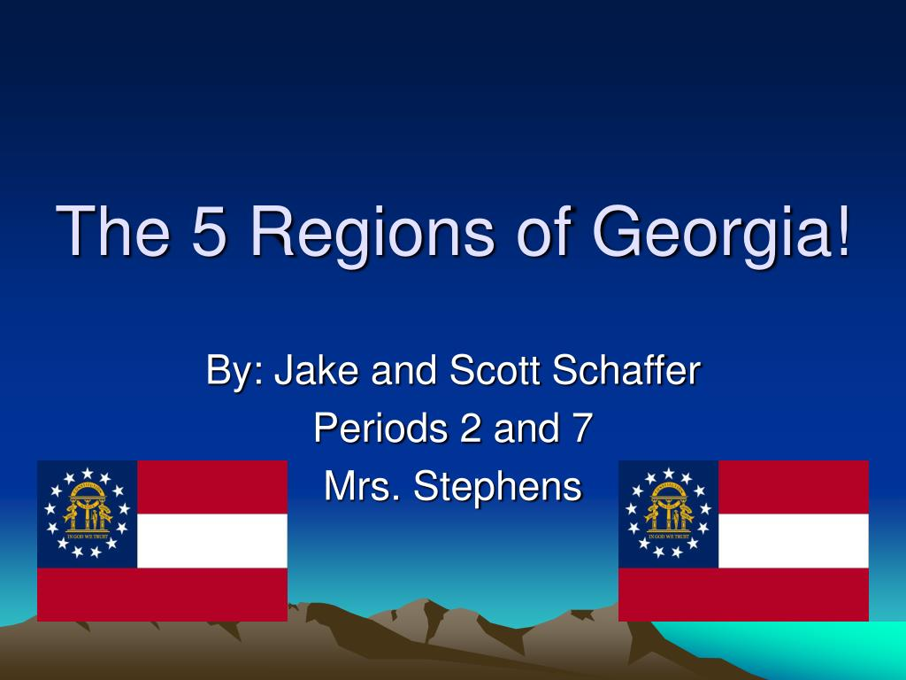 the 5 regions of georgia l.