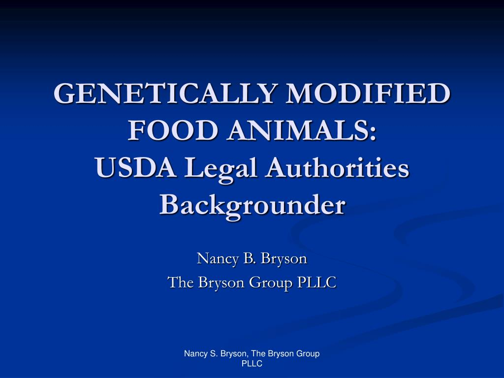 genetically modified food animals usda legal authorities backgrounder l.