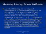 marketing labeling process verification
