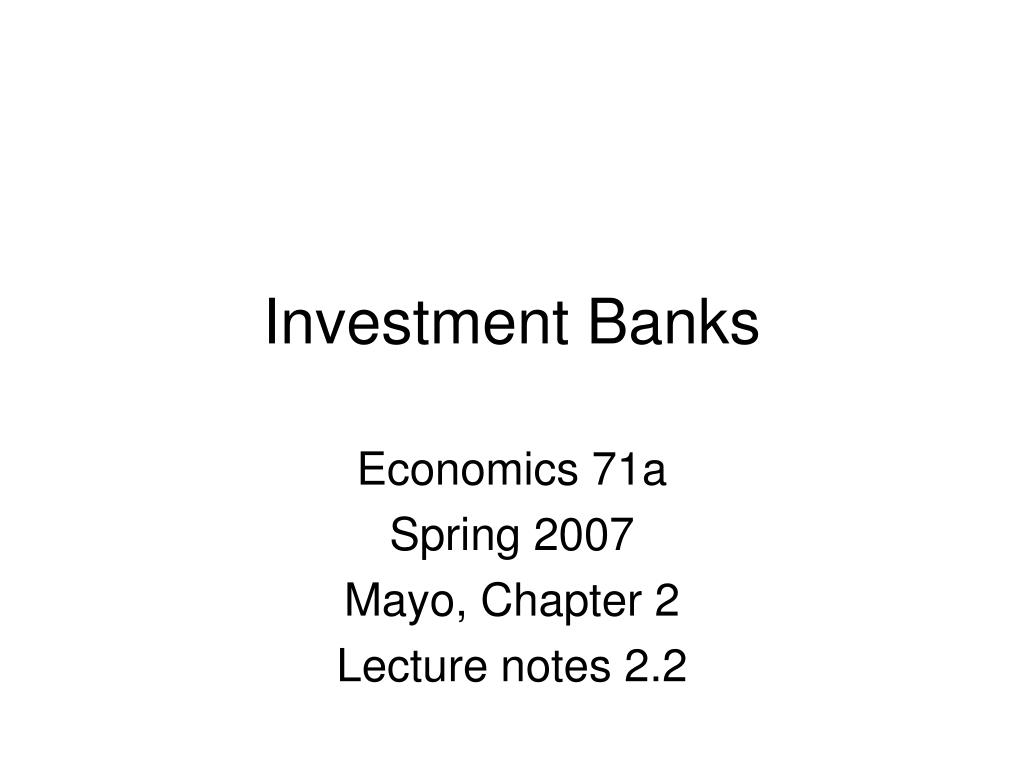 investment banks l.