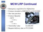 mcw lrp continued5