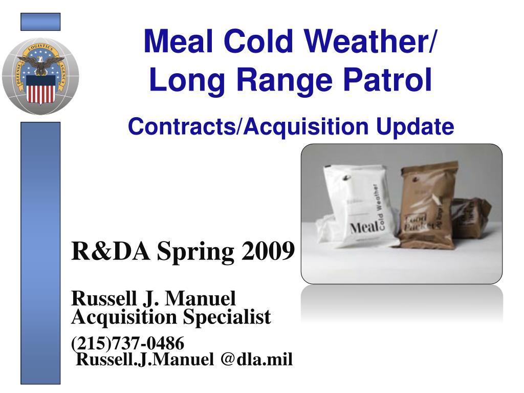 meal cold weather long range patrol l.