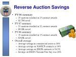reverse auction savings