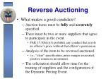 reverse auctioning