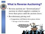 what is reverse auctioning