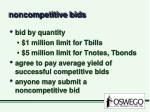 noncompetitive bids
