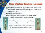 fixed wireless services licensed