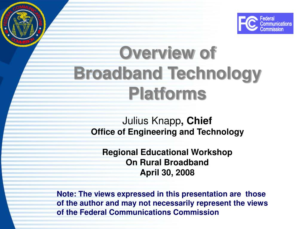 overview of broadband technology platforms l.