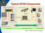typical gpon components
