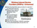 wireless internet service providers wisps unlicensed