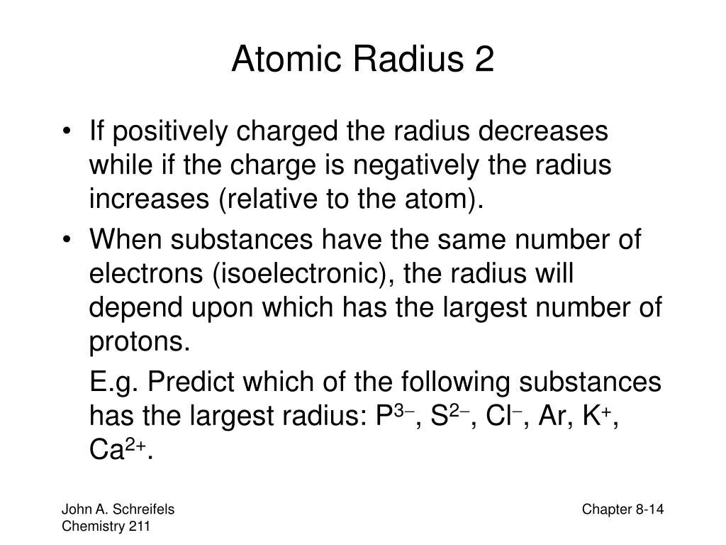 Atomic Radius 2