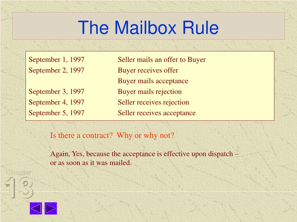 The Mailbox Rule