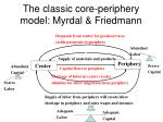 the classic core periphery model myrdal friedmann
