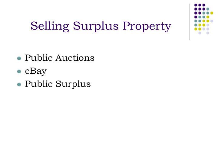 Selling Surplus Property