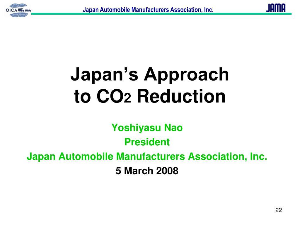 Japan's Approach