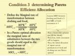 condition 3 determining pareto efficient allocation