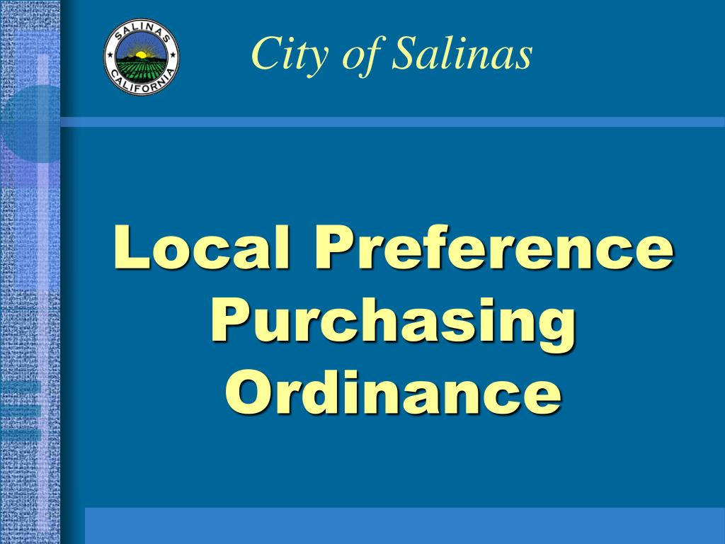 local preference purchasing ordinance l.