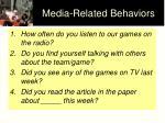 media related behaviors