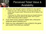perceived ticket value availability