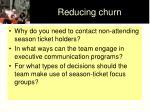 reducing churn35